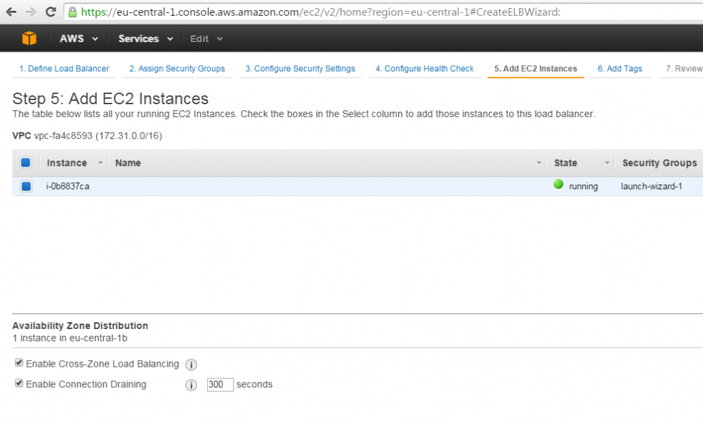 Add EC2 instance
